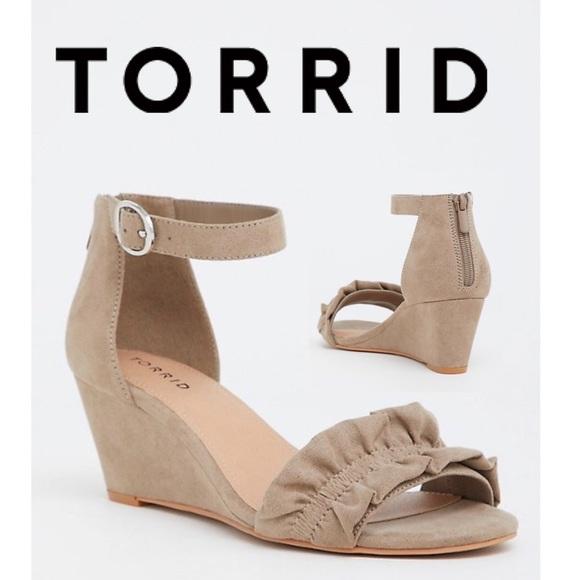 torrid Shoes | Torrid Nude Wedges